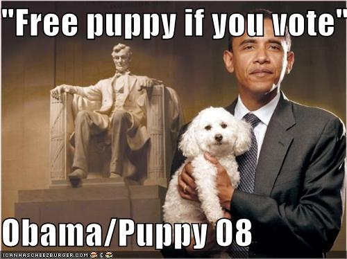 vote obama, get a free puppy
