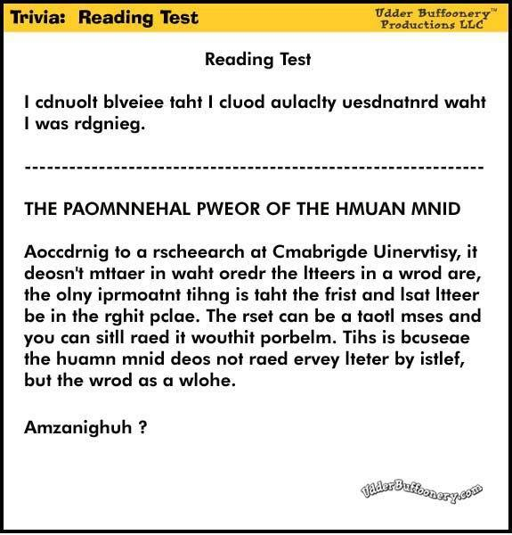 Reading Test!