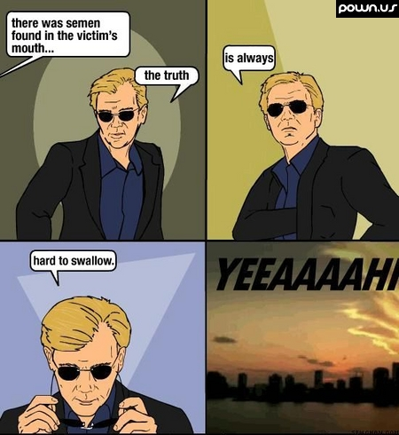 Horatio Caine CSI, the truth is always hard to swallow!