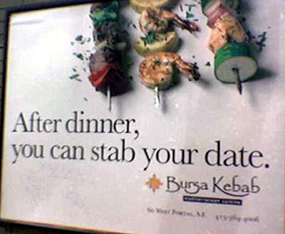 bursa kebab ad, im not sure it makes me hungry lol