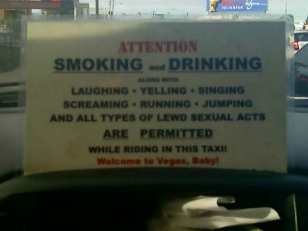 Taxi welcomes you to ride in style, Vegas style!